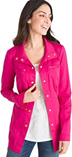 Chico's Women's Luxe Twill Utility Jacket