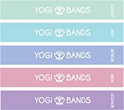 Yogi Bands by XNM Creations| Resistance Loop Exercise Fitness Workout Bands| Set of 5 | Pastel Colours