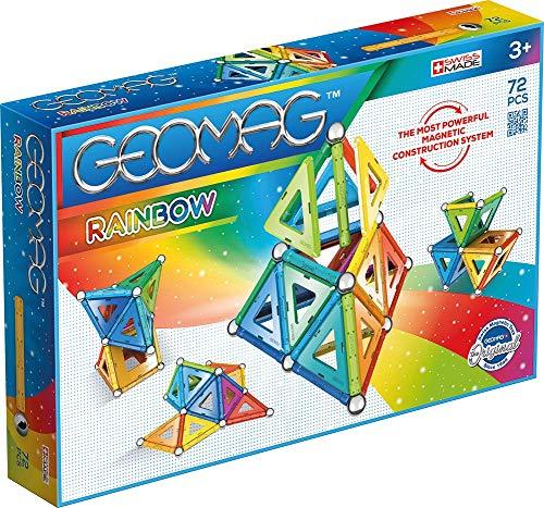 Geomag Rainbow, 371, Magnetkonstruktionen und Lernspiele, 72-teilig