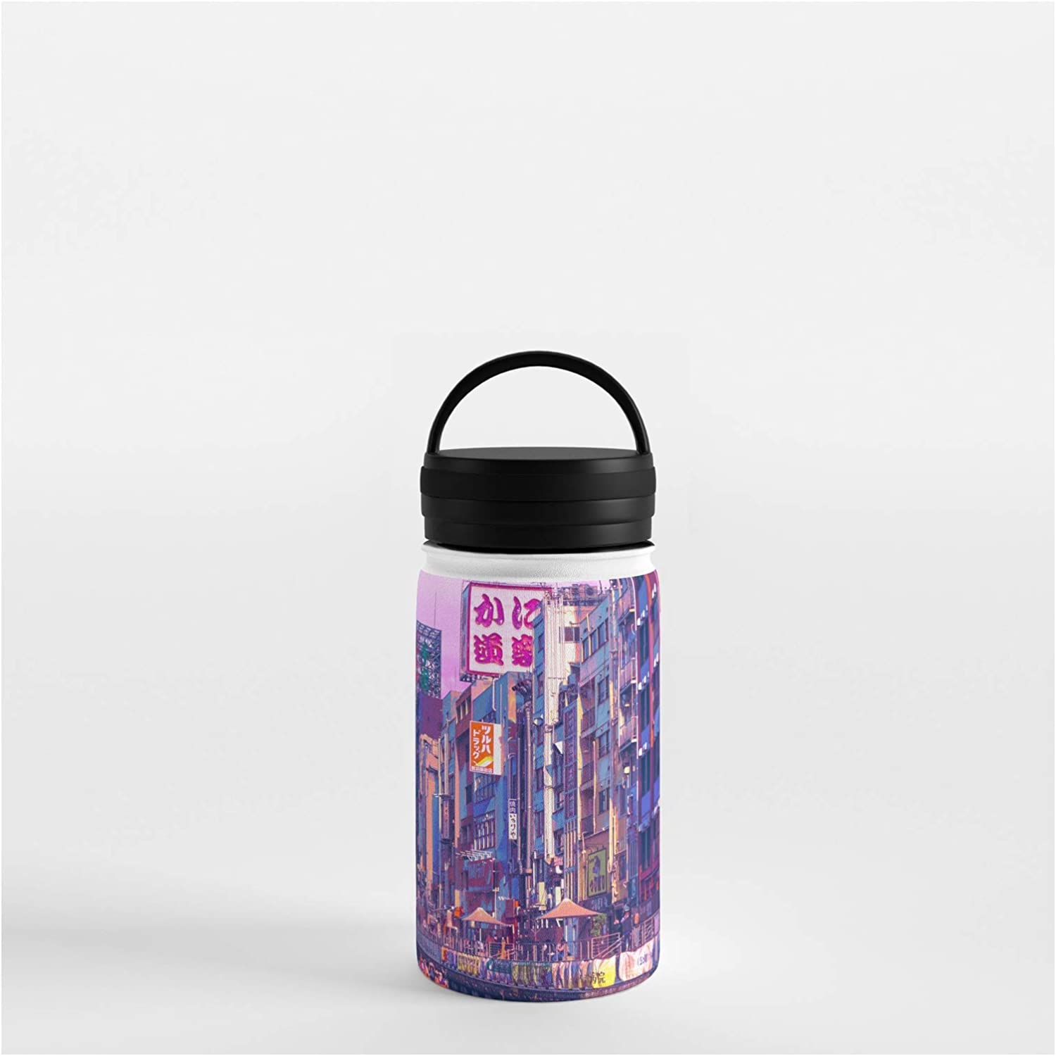 Over item handling Sale special price Society6 Osaka Citypop by Surudenise on Water Bottle - 12 oz 356