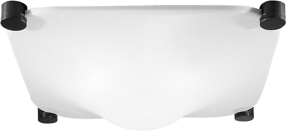 Martinelli luce bolla 35 lampada e27,  lampada da soffitto a luce diffusa,in alluminio e  metacrilato opal bia 2760/35/I
