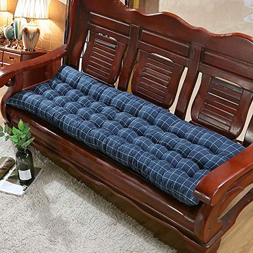 Cojín de banco al aire libre, alfombra de asiento gruesa, 120 x 48 cm, cojín de banco rectangular, cojín suave para silla de jardín de 2 3 plazas de metal o madera