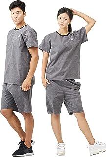 stan サウナスーツ メンズ レディース ダイエット[スポーツトレーナーが考えた大量発汗サウナスーツ] 洗濯可 おしゃれ 大きいサイズ 男女兼用 ウインドブレーカー 上下セット[半袖]