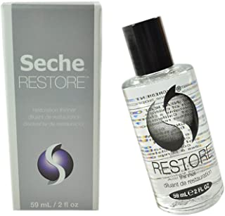 Seche Vite Restore Polish Thinner Professional kit only thinner to thin a bottle of Seche vite to its original consistency. Will not diminish shine or dull colors. Size 2 fl oz, 59 ml
