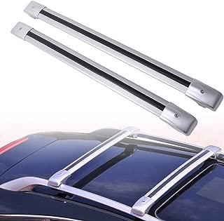 MotorFansClub Luggage Rack Locking Top Roof Rack Cross Bar Crossbar for Volvo XC90 XC 90 2003-2014