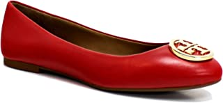 Tory Burch Benton 2 Ballet Flat, Brilliant Red/Gold