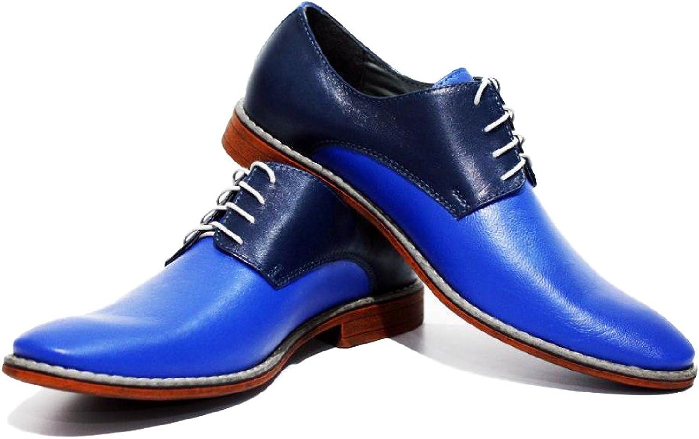 Modello Mezzate - Handgjord italiensk lädermäny Färgblå Färgblå Färgblå Oxford Klädskor - Cowhide Smooth läder - Lace -Up  nyhetsartiklar