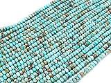 Beads Ok, DIY, Imperial Jaspe, Azul Turquesa, Teñido, 6x4mm Abalorio Cuenta Mostacilla o Chaquira De Piedra Semipreciosa Rondel Llano, ~40cm un Tira; Imperial Jasper, Turquoise Blue, Rondelle Bead