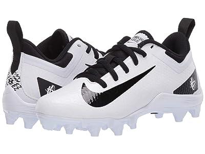 Nike Kids Alpha Huarache 7 Lacrosse (Little Kid/Big Kid) (White/Black/White) Kids Shoes