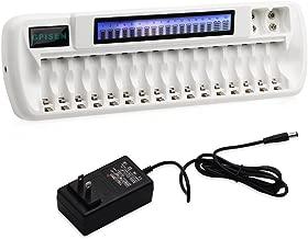 GPISEN 16+2 Bay/Slot Smart LCD Charger for NI-MH AA AAA Battery NI-MH/Li-ion 9V Batteries