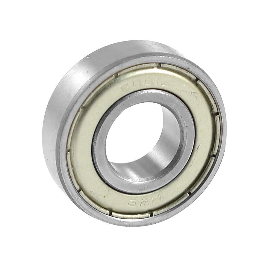 ステレオタイプ不平を言う受け入れuxcell 深溝玉軸受 ボールベアリング メタル製 シルバートーン シングル列 6001Zモデル 12mm x 28mm x 8mm