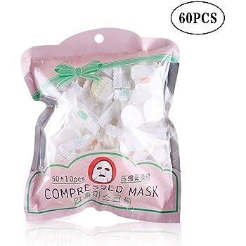 60 Piezas Mascarilla Comprimida Mascarilla Facial Desechable En ...