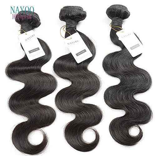 nayoo® produits vierges péruviens Hair Body Wave 2 BUNDLE DEAL cheveux non traités cheveux humains tissage tissage nayoo Beauté