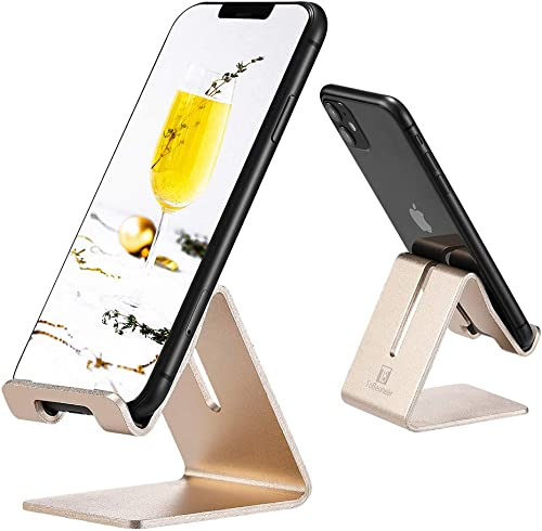 Cell Phone Desk Stand Holder - ToBeoneer Aluminum Desktop Solid Portable Universal Desk Stand for All Mobile Smart Ph...