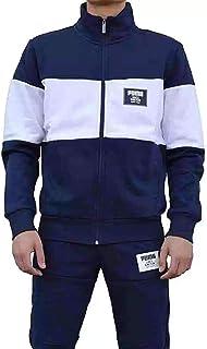 c02174aa1957 PUMA Mens Jog Suit Fleece Tracksuit Rebel Block Sweat Suit Navy White New  851563 06