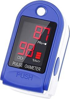 NAKE - Sensor de saturación de los dedos, pulsómetro, pantalla OLED, color morado