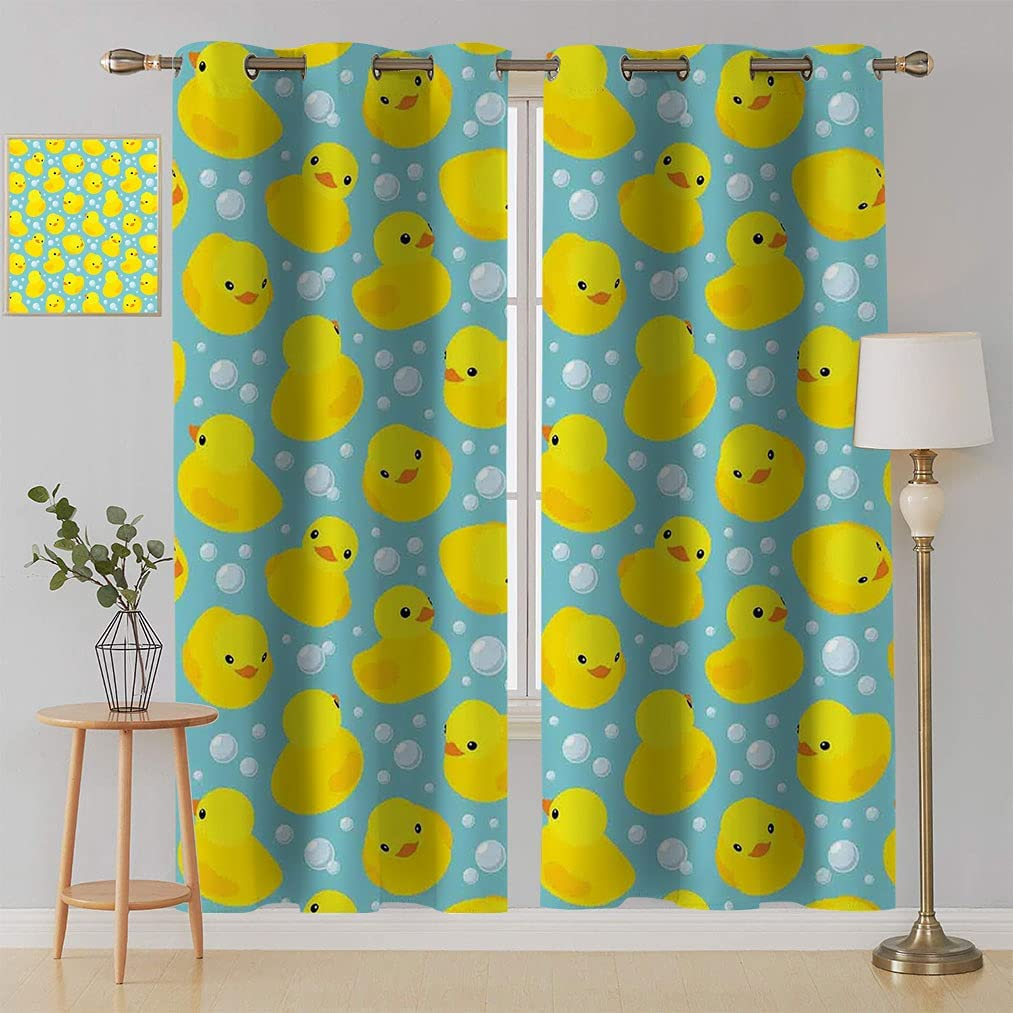Nursery Curtains Cute Outlet sale feature Happy Rubber and Cartoon Duck Pat Genuine Free Shipping Bubbles