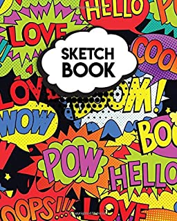 Sketchbook: Vintage Blank Notebook for Drawing, Sketching, Doodling & More - 8'' x 10'' Sketch Pad with a Softback Cover -...