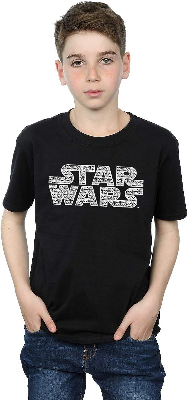STAR WARS Boys Force Awakens Stormtrooper Logo T-Shirt 5-6 Years Black