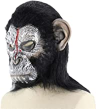 SHENTIANWEI Anthropoid Apes Hoods Latex mask Halloween Horror Funny Animals (Color : Dark Grey)