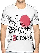 3D Printed T-Shirts Japan Tokyo Mountain Ridge Short Sleeve Tops Tees