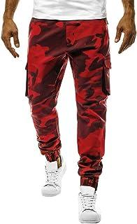 メンズ Luguojun ロング カーゴパンツ 作業着 カジュアル 迷彩 オーバーオール 安い 夏 ファッション 快適 吸汗速乾 無地 ポケットズボン ゆったり 大きいサイズ ジーンズ スキニー スリムジーンズ ポケット 美脚 スーパー ストレッチ 男性用