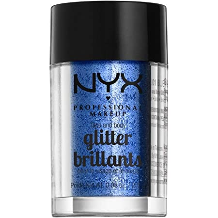 NYX PROFESSIONAL MAKEUP Face & Body Glitter, Blue