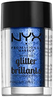 NYX Professional Makeup, Face & Body Glitter - Blue 01