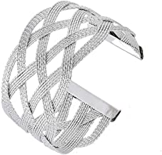 OCTCHOCO Egyptian Arm Bracelet Upper Arm Metal Wire Woven Arm Cuff Jewelry Arm Band Bangle for Women 3.1