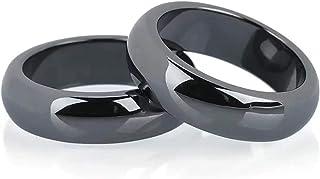 خواتم هيماتايت للرجال والنساء خواتم توازن القلق من الحجر الأسود للأزواج