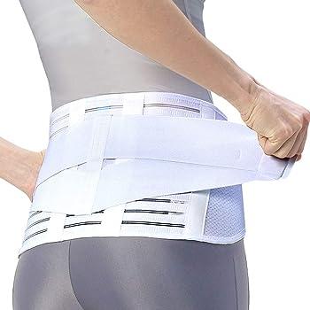 [Amazonブランド]SOLIMO 腰椎医学コルセット (腰用サポーター) 白 Mサイズ