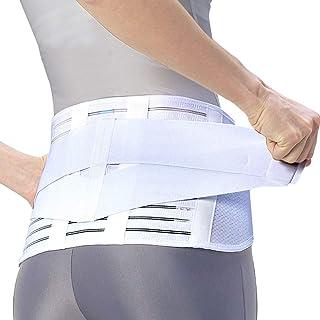 [Amazonブランド]SOLIMO 腰椎医学コルセット (腰用サポーター) 白 LLサイズ