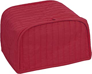 RITZ Polyester / Cotton Quilted Two Slice Toaster Appliance Cover, Dust and Fingerprint Protection, Machine Washable, Paprika Red