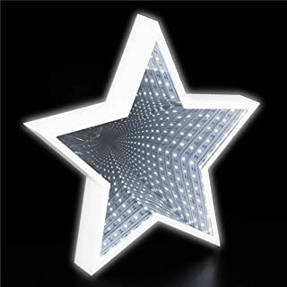 Kicko 11 Inch LED Star Tunnel Lights - 1 Piece of Infinity Night Lamp - Perfect for Christmas, Home Decorations, Movie Nights, Stage Props, School Festivals, Room Decals, Party Favor