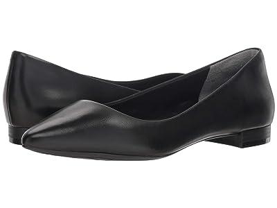 Rockport Total Motion Adelyn Ballet (Black Burn Calf) Women