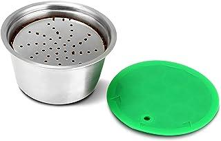 OurLeeme réutilisable Capsule de café, Capsule Filtre de Café Réutilisables tasse de filtre à café réutilisable en acier i...