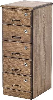 Classeur vertical à 5 tiroirs en bois Armoires de bureau Tiroirs de rangement avec serrure et 4 roulettes entièrement asse...