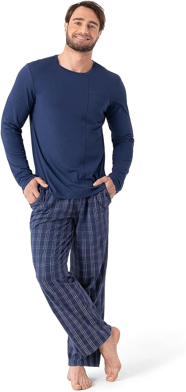 San Francisco Limited time cheap sale Mall DAVID ARCHY Men's Cotton Sleepwear Pajama Bottom Top Set