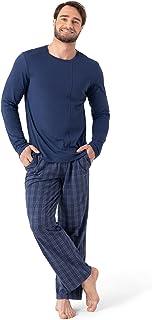 Sponsored Ad - DAVID ARCHY Men's Cotton Pajama Set Top & Bottom Sleepwear PJs