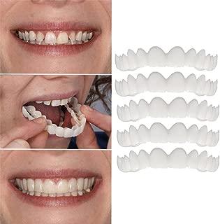 Inverlee 5PC Comfort Fit Flex Cosmetic Teeth Denture Teeth Top Cosmetic Veneer (5PC)