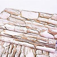 壁紙 リメイクシート,リメイクシート 防水,PVC防水ステッカー、自己接着剤厚い寮の壁紙、寝室の装飾的な絵画壁紙、レンガのパターンリビングルームの壁のステッカー-A5 / 45cm * 10m