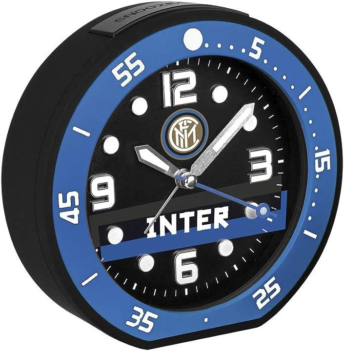Sveglia fc internazionale inter, ja6015in1, orologio sveglia al quarzo analogica con suoneria bip-bip