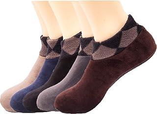 Raylans Men's Winter Warm Fluffy Soft Fuzzy Socks Bed Sleep Floor Socks 5Pairs