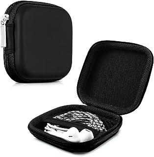 kwmobile Funda Protectora rígida para Auriculares In-Ear - Estuche Protector [Duro] para audífonos con Almohadillas en [Negro]