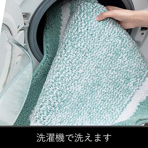 Color&Geometryバスマット玄関マット吸水速乾足ふきマット滑り止め付丸洗えるお風呂ドアふわふわ(グリーン,40*60cm)