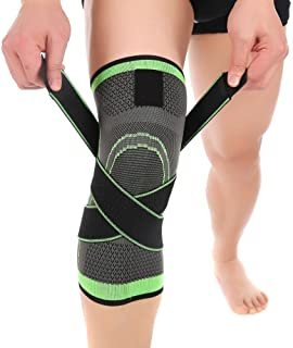 3D Weaving Compression Knee Support Sleeve Brace Breathable for Running Jogging Sports for Joint Pain and Arthritis Relief...