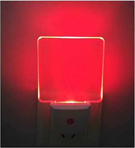 2 Pack Greenic Auto On Off LED Plug in Night Light Lamp with Dusk to Dawn Light Sensor Color Selection Night Lights(Red)