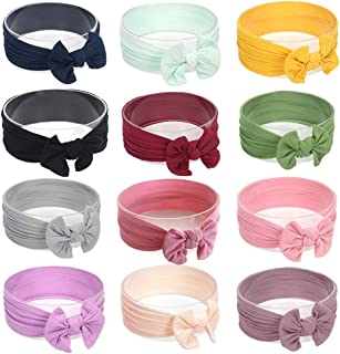 Baby Girl Headbands and Bows,Girl's Nylon Hairbands for Newborn,Toddler and Childrens