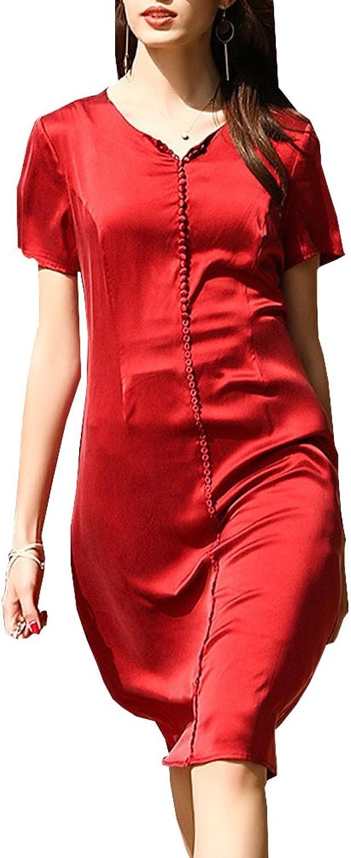 Dissa S9980 Women Vintage Sleeveless KneeLong Cocktail Plus Size Silk Summer Dress