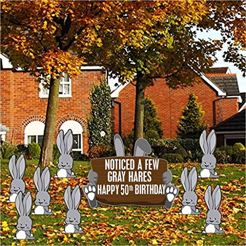 Birthday Yard Cards Noticed A Few Gray Hares Happy 50th Birthday 9 Signs Includes Stakes 12431